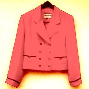 Vintage sailor red double breasted blazer